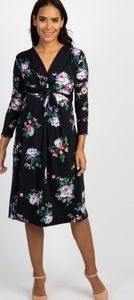 Floral print maternity dress - Brand new